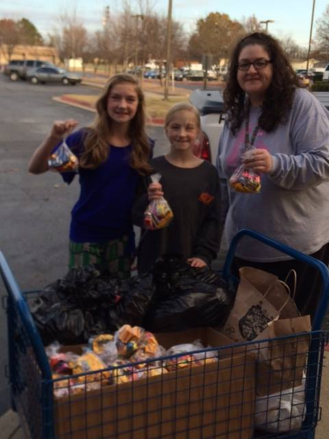 Another Group Of Young Caring Members Decided To Collect Halloween Candy From Their Friends
