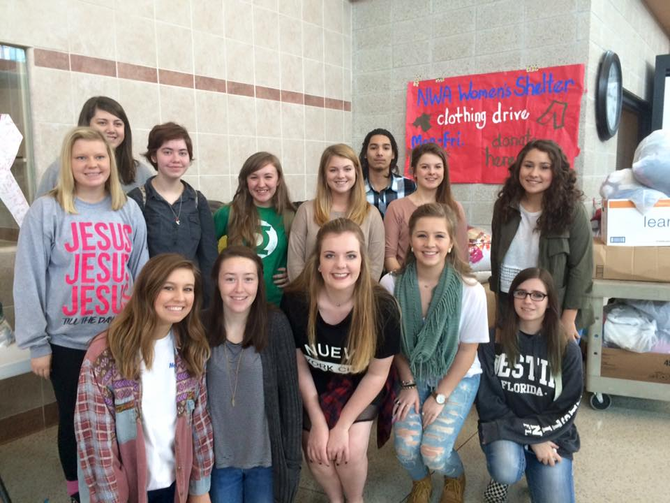 Bentonville High School Conducted A Clothing Drive