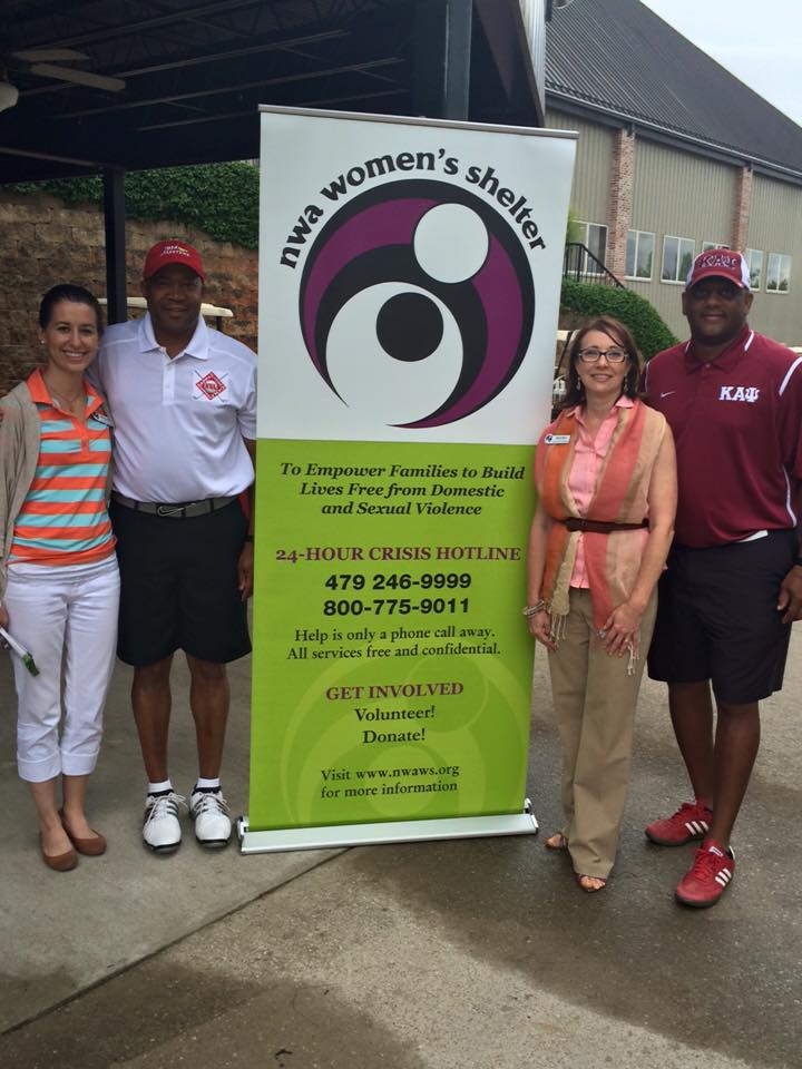 Kappa Fraternity Named The NWA Women's Shelter As The Beneficiary Of Its Golf Tournament