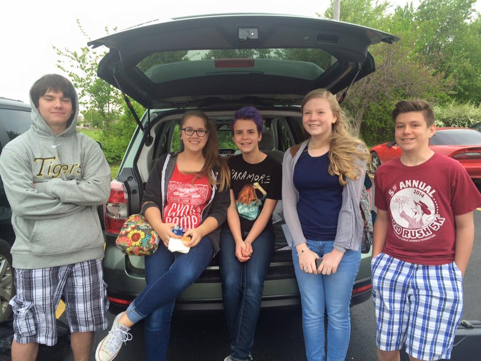 Students Conducted A Clothing Drive