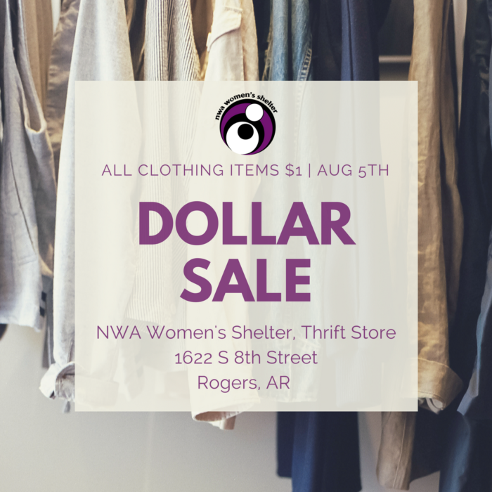 August 1st, Thrift Store Sale