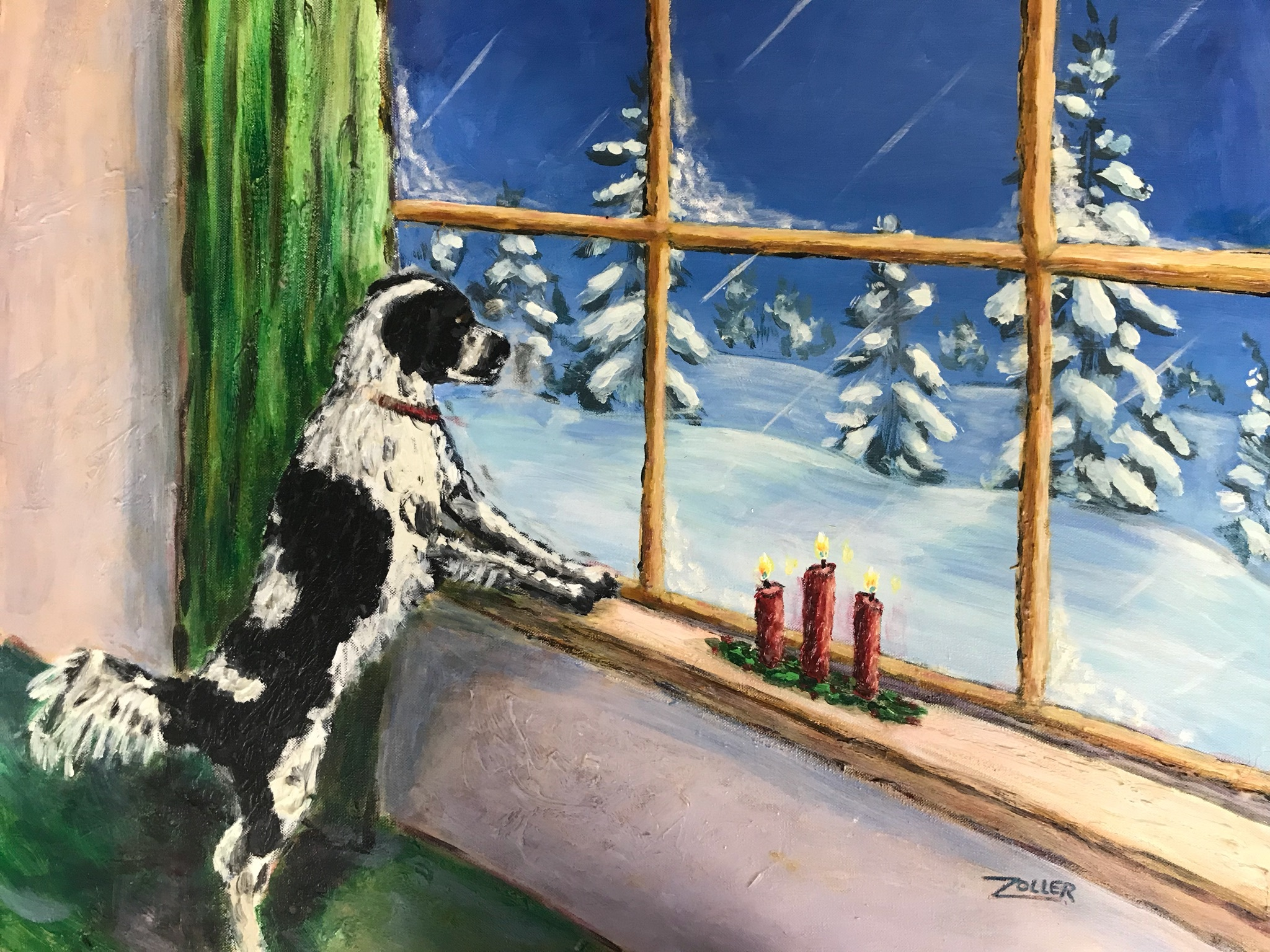 Artist Piece: Yule Window